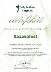 Sázavafest získal ocenění Čistý festival i v roce 2018