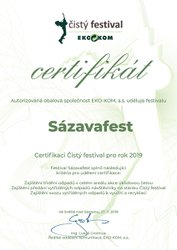 Sázavafest získal ocenění Čistý festival i v roce 2019